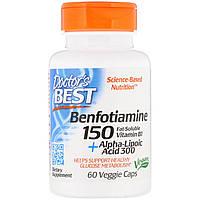 Альфа-липоевая кислота и Бенфотиамин, Doctors Best, 60 капсул