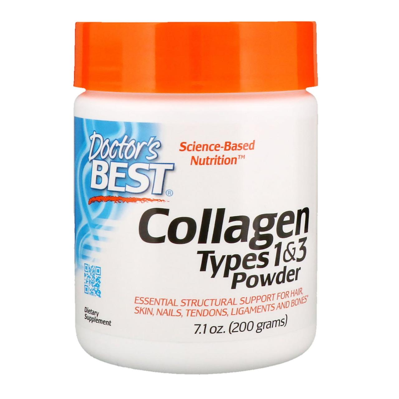 Коллаген 1 и 3 типа Doctors Best, Types 1 & 3, 200 g