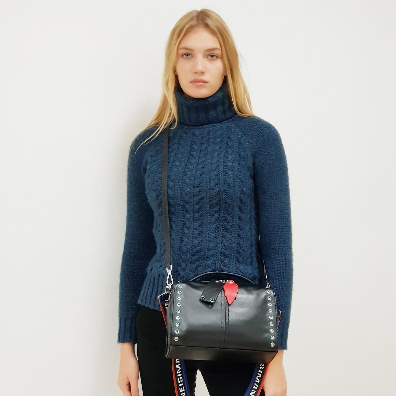 Женская сумка кожаная 8960 маленькая черная