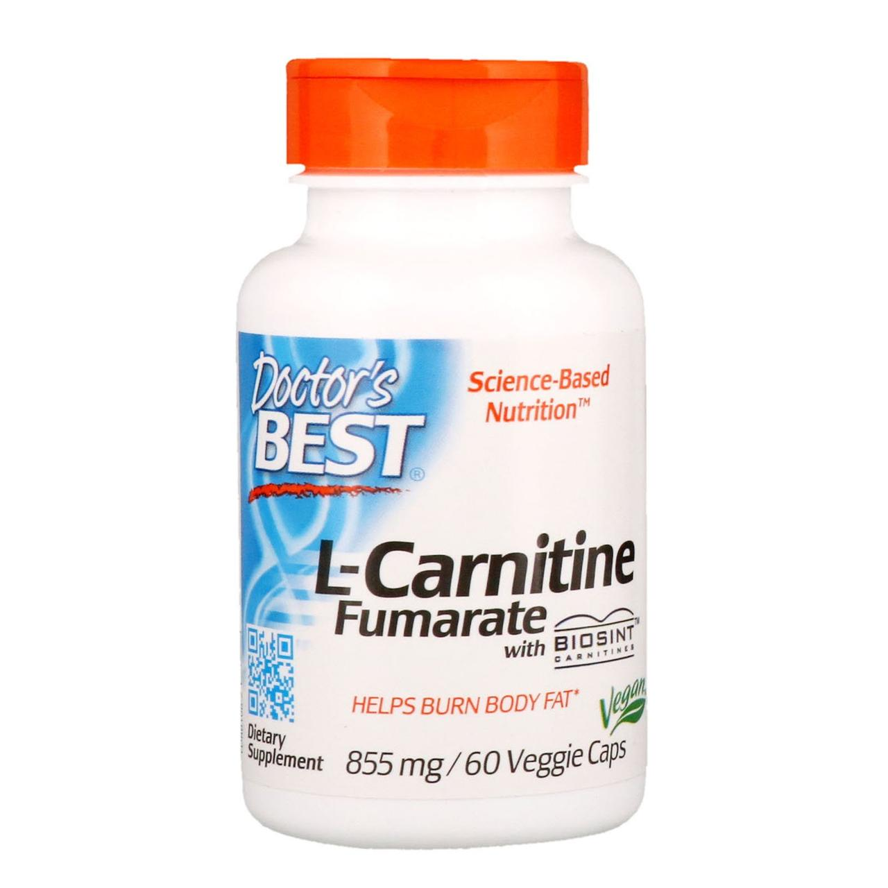 L-карнитин Фумарат, Doctors Best, 60 капсул