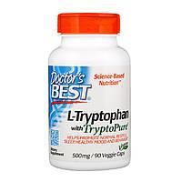 L-триптофан, Doctors Best, 500 мг, 90 кап.