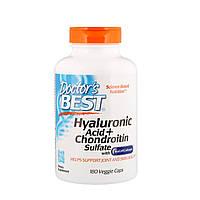 Гиалуроновая кислота с Хондроитин сульфатом и коллагеном Doctors Best, 180 капсул