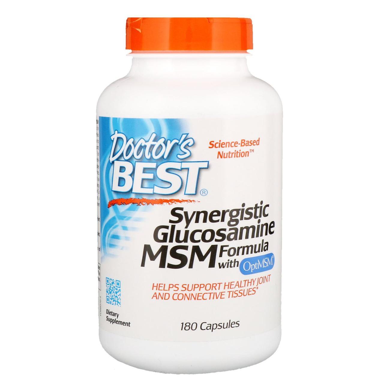 Глюкозамин, МСМ, Doctors Best, 180 капсул