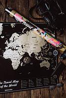 Скретч карта мира / оригинальный подарок Одесса для женщин мужчин