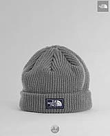 Теплая двойная шапка тнф, TNF, The north face, реплика, фото 1