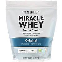 Сироватковий протеїн, Miracle Whey, Dr. Mercola, 454 г