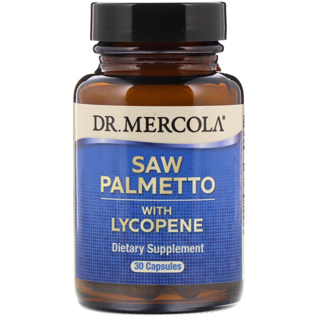 Со Пальметто с ликопином, Dr. Mercola, 30 кап.
