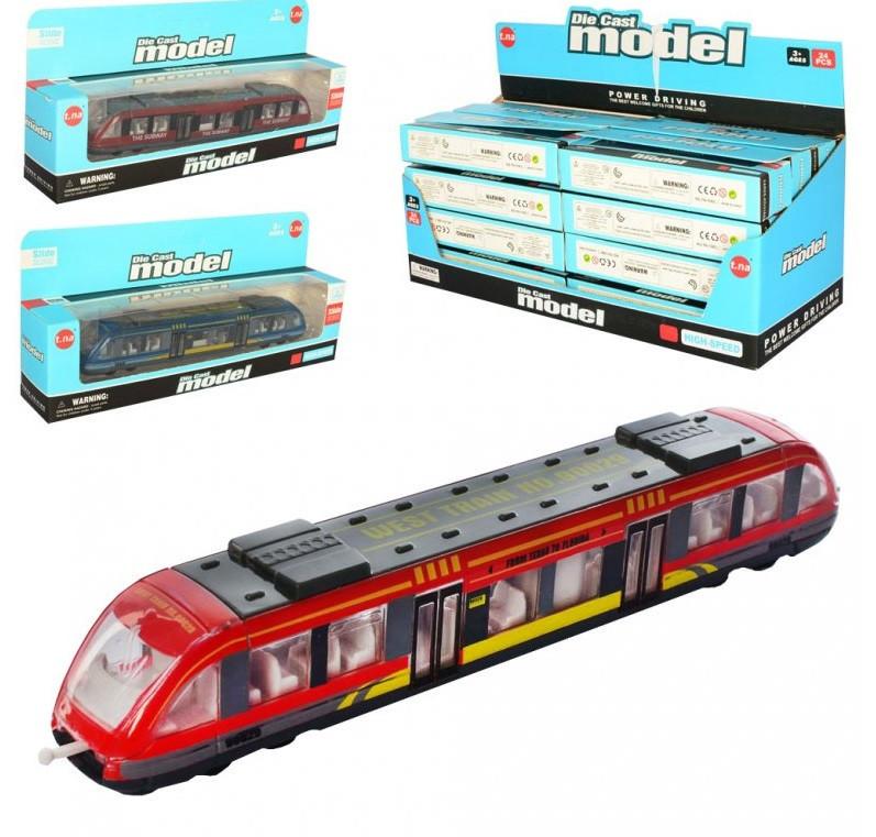 Поезд металлический Die Cast Model 17 см