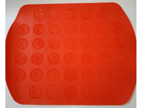 """Силиконовый коврик для выпечки """"Macarons"""" двух сторонний, фото 2"""