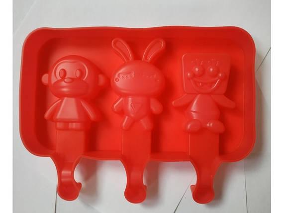 Силиконовая форма для конфет Обезьянка, Зайчик, Губка Боб, фото 2