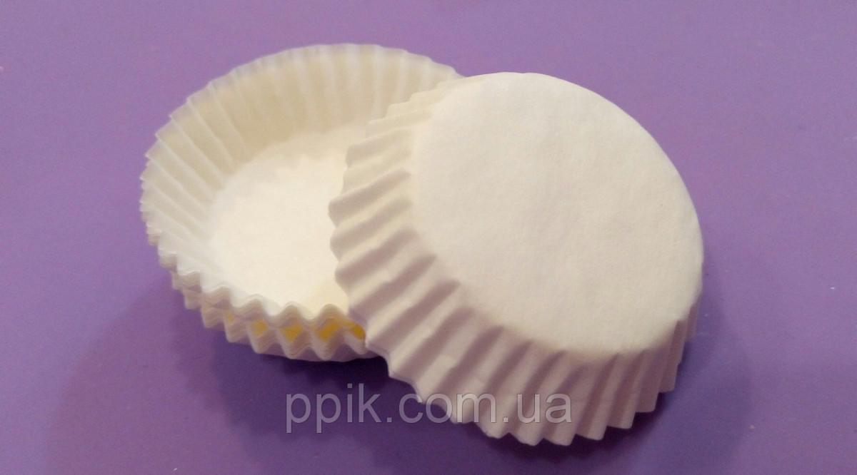Тарталетки (капсулы) бумажные для кексов, капкейков белые 30*10 мм
