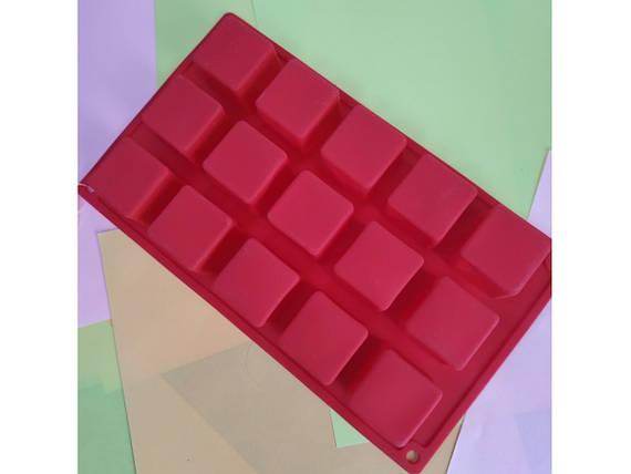 Силиконовая форма для конфет Кубики, фото 2