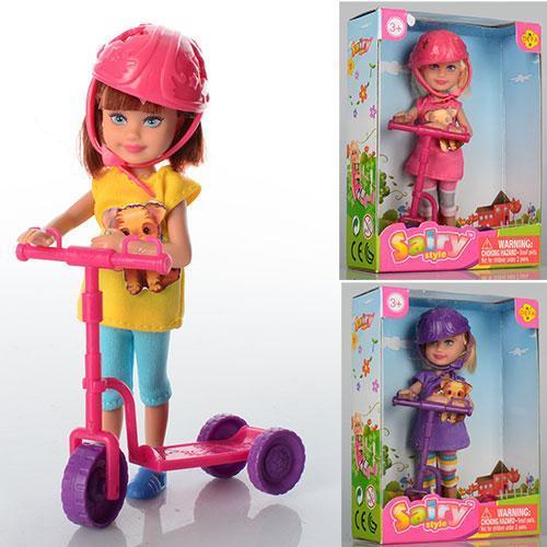 Кукла с самокатом 13.5 см Defa Lucy