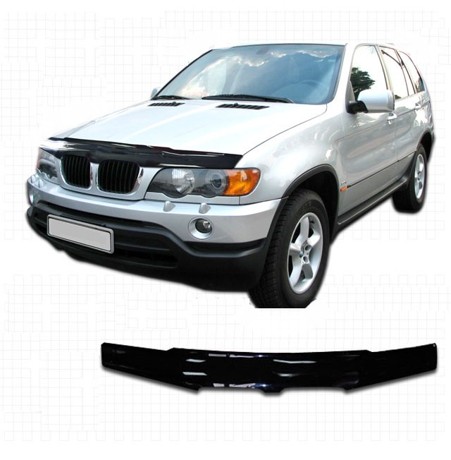 Дефлектор капота BMW Х5  2000 - 2004, Мухобойка BMW Х5