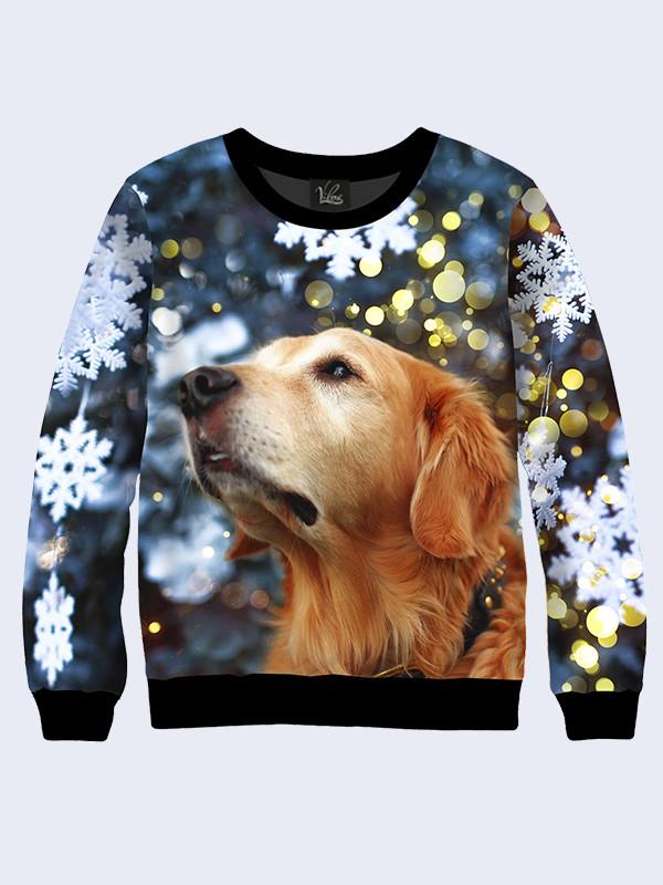 Мужской свитшот Рождественская собака