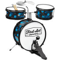 Мus.Inst FIRST ACT DISCOVERY DRUM SET+SEAT BLACK W/BLUE барабан+сиден.
