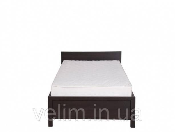 Кровать односпальная BRW Каспиан (каркас) 90х200 венге