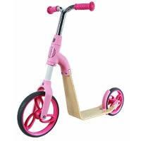 Детский самокат беговел для девочек от 3 лет Sport AEST 2 in 1 Розовый (B01-Pink)