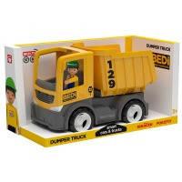 Игрушечная машинка с водителем из abs пластика Efk MULTIGO Singl Самосвал Желтый (27271)
