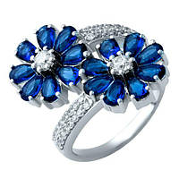 Серебряное кольцо с сапфиром nano (18)