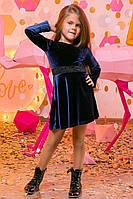 """Элегантное детское платье средней длины """"Бархат Кружево"""""""