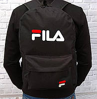 ХИТ!  Молодежный вместительный рюкзак FILA, фила. Черный / F 01