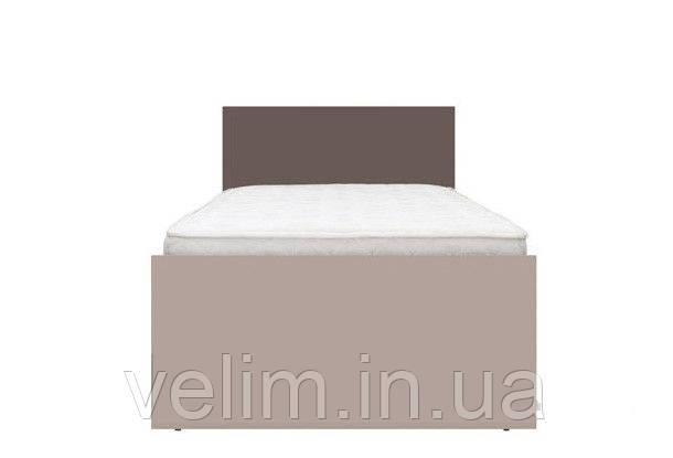 Кровать односпальная Gerbor Никко+ламель 90х200 капучино/мокка, фото 1