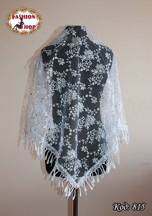 Свадебный платок со стразами Виолета, фото 2