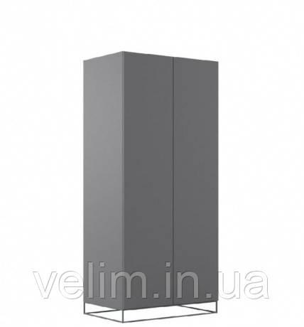 Шкаф распашной Gerbor Мерс SZF2D 90х200х59 антрацыт/елегантный серый софт тач, фото 1