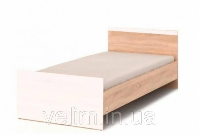 Кровать односпальная Gerbor Моби + ламель 90х200 дуб сонома/ нимфея альба, фото 1