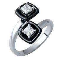 Серебряное кольцо с , керамикой (16,5)