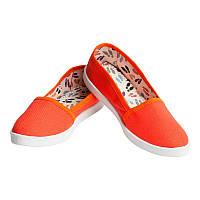 Мокасины OLDCOM Canvas оранжевые