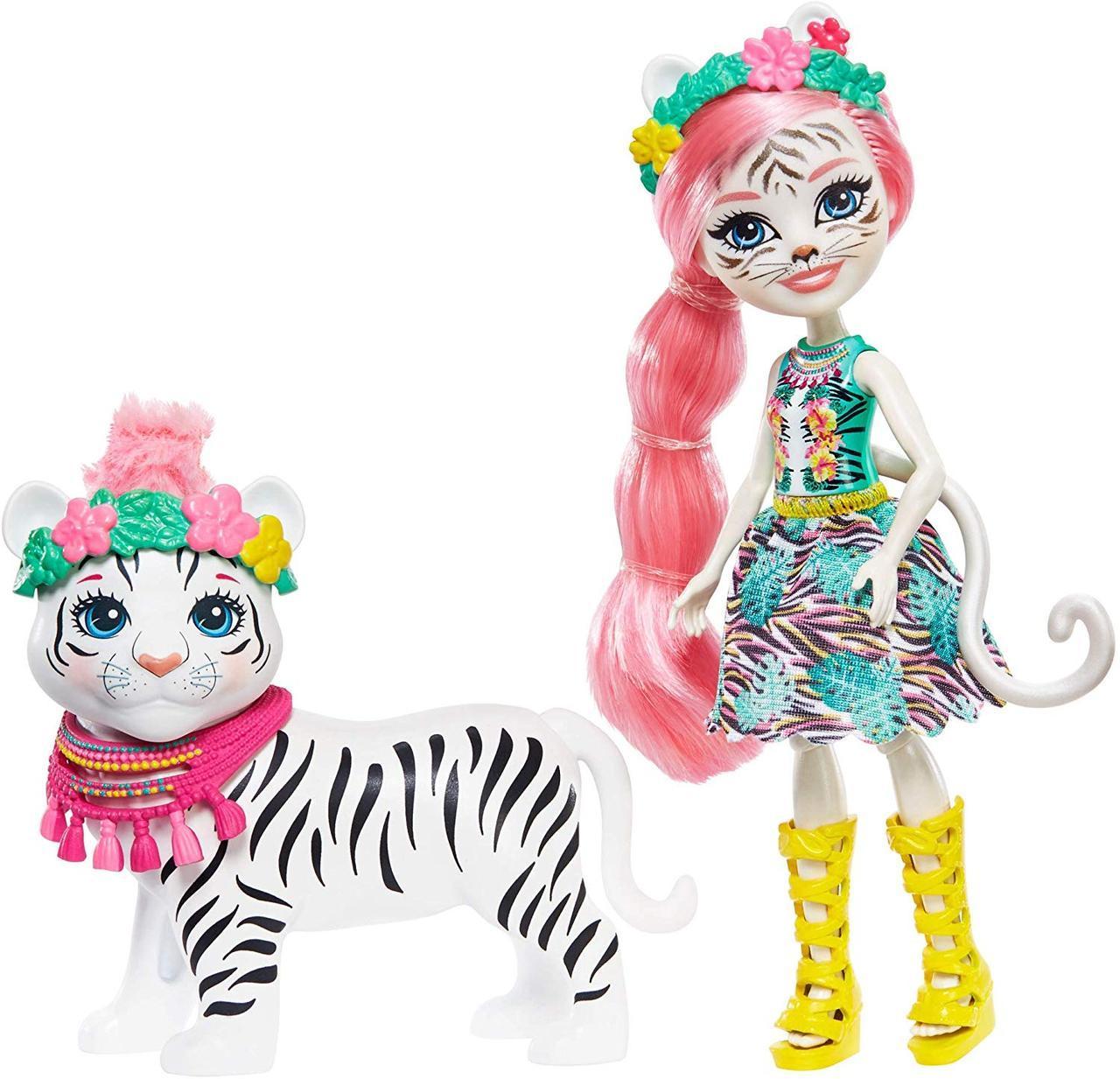 Энчантималс Тэдли Тайгер кукла с большой зверюшкой Enchantimals Tadley Tiger