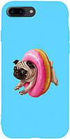 Чехол-накладка TOTO Matt TPU 2mm Print Case Apple iPhone 7 Plus/8 Plus #34 Dog Donat Sky Blue
