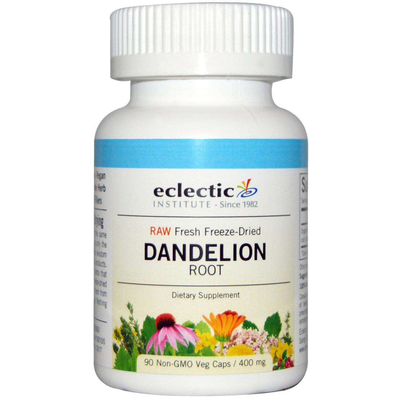Корень одуванчика (Dandelion), Eclectic Institute, 400 мг, 90