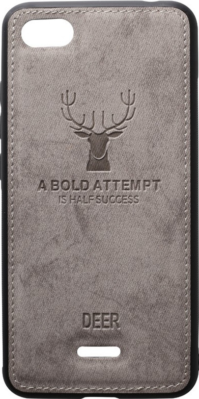 Чехол-накладка TOTO Deer Shell With Leather Effect Case Xiaomi Redmi 6A Grey
