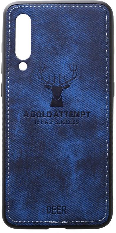 Чехол-накладка TOTO Deer Shell With Leather Effect Case Xiaomi Mi 9 Dark Blue