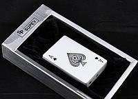 Подарочная Зажигалка sp20 Подарок гурману табака Зажигалка Колода карт Пиковый туз Огонь всегда в кармане