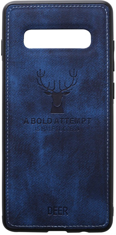 Чехол-накладка TOTO Deer Shell With Leather Effect Case Samsung Galaxy S10+ Dark Blue