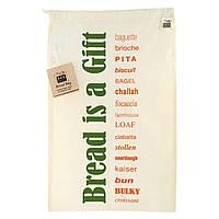 ECOBAGS, Органическая многоразовая сумка для хлеба из набивной хлопчатобумажной ткани, 1 сумка, ширина 11,5 х высота 18