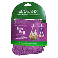 ECOBAGS, Коллекция для рынка, авоська, длинная ручка 22 дюйма, малина, 1 сумка