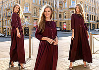 """Стильное женское длинное платье до больших размеров 527 """"Креп Макси Кармашки"""" в расцветках"""