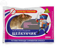 Родентицид/Средство от мышей и крыс Щелкунчик 200г тесто-колбаски (40шт/уп)