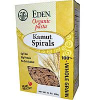 Органические макароны в форме спиральки из камута, Pasta Kamut Spirals, Eden Foods,  340 г