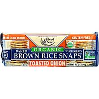 Хрустящие запеченные рисовые крекеры с поджаренным луком, Edward & Sons, 100 г.