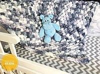 Плюшевый детский плед Kонверт на выписку Бант для конверта Подушка