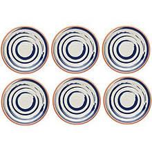 Летние неразрушимые меламиновые тарелки из керамики, синий / оранжевый, 26,5 см