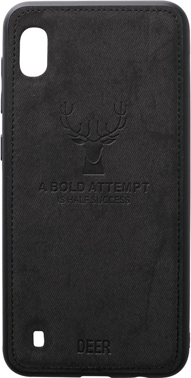 Чехол-накладка TOTO Deer Shell With Leather Effect Case Samsung Galaxy A10 Black