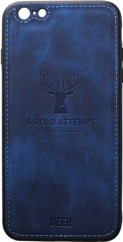 Чехол-накладка TOTO Deer Shell With Leather Effect Case Apple iPhone 6/6s Dark Blue