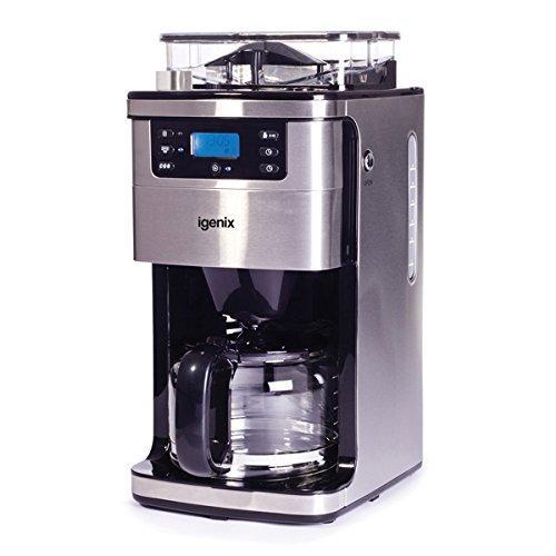 Кавоварка на 12 чашок, автоматичний 24-годинний таймер, функція підтримки тепла, кофемолка,